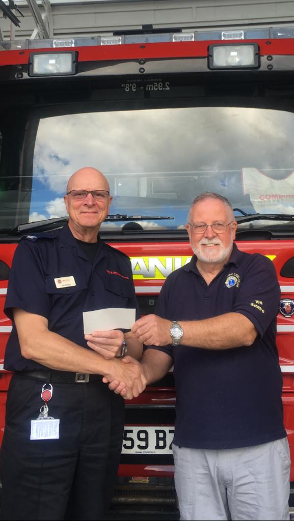 Donation to Trowbridge Fire Brigade